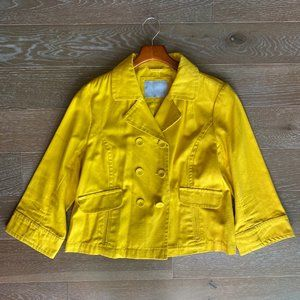 Old Navy Cotton Pea Jacket | Yellow | L